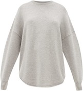 Extreme Cashmere - No. 53 Crew Hop Oversized Stretch-cashmere Sweater - Womens - Grey