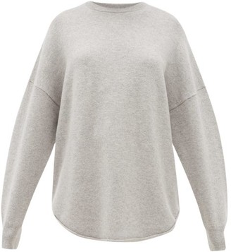 Extreme Cashmere - No. 53 Crew Hop Oversized Stretch-cashmere Sweater - Grey