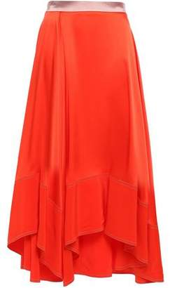 Roksanda Silk Crepe De Chine Midi Skirt