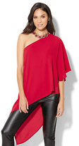 New York & Co. One-Shoulder Hi-Lo Blouse