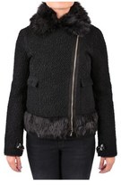 Patrizia Pepe Women's Black Wool Outerwear Jacket.