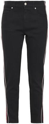 Alexander McQueen Striped Mid-rise Slim-leg Jeans