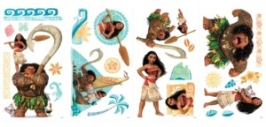 York Wall Coverings Disney Moana Peel and Stick Wall Decals