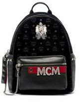 MCM Stark Embroidered Backpack