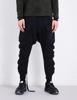 Unravel Pocket-detailed cotton-jersey jogging bottoms