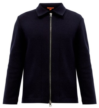 Barena Busson Wool-blend Jersey Overcoat - Navy