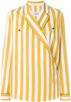Maison Margiela vertical stripe print shirt