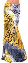 Novia's Choice Novias Women Summer Multicolored Print High Waisted Beach Maxi Skirts Long Dress