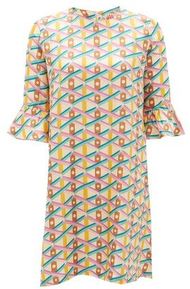 Le Sirenuse Positano Le Sirenuse, Positano - Cappa Balance-print Silk Mini Dress - Pink Multi