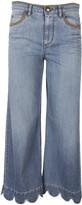 RED Valentino Scalloped Hem Jeans