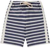 Il Gufo Striped Sweat Shorts with Adjustable Waist