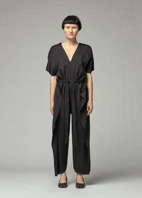 Issey Miyake Women's Drawing Ap Solid Jumpsuit in Black Size 2