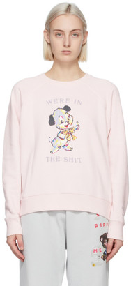 Marc Jacobs Pink Magda Archer Edition Were In The Shit Sweatshirt