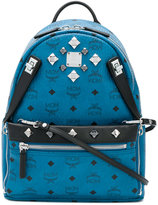 MCM logo print embellished backpack - women - Leather/metal - One Size