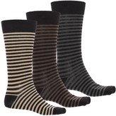 Ecco Striped Cushioned Socks - Over the Calf, 3-Pack (For Men)