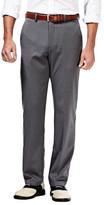 Haggar Cool 18 Birdseye Pants, Classic Fit, Flat Front, Hidden Expandable Waistband