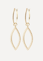 Bebe Stud Marquise Hoop Earrings