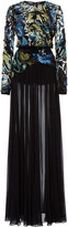 Elie Saab Long Sleeve Beaded Gown