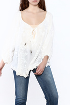 Z&L Europe White Flowy Top