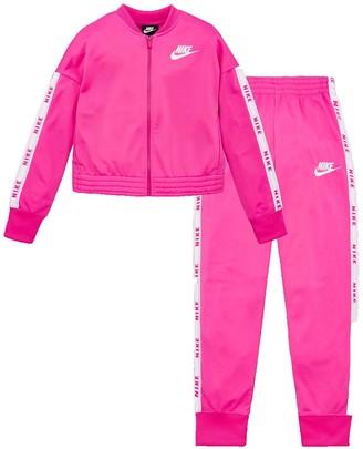 Nike Sportswear Older Girls Tricot Tracksuit - Pink