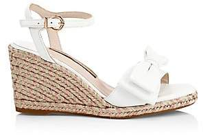 4a792b218aa Women's Bonnie Leather Bow Espadrille Wedge Sandals
