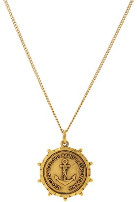 Saint Laurent Anchor-medallion Necklace - Gold