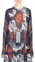 Sacai Printed Back Pleated Top