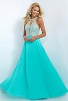 Blush Lingerie Embellished Halter Neck Chiffon A-Line Dress 11085