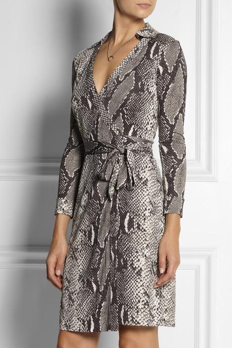 Diane von Furstenberg New Jeanne python-print silk-jersey wrap dress