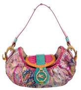 Etro Canvas & Leather Shoulder Bag