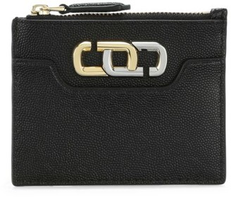 Marc Jacobs Coated Leather Zip Card Case