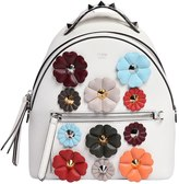 Fendi Mini Flower Appliqués Leather Backpack