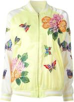 P.A.R.O.S.H. butterfly decal bomber jacket