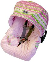 Little Miss Itzy Ritzy Infant Car Seat Cover Zig Zag