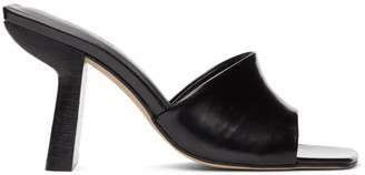 BY FAR Black Patent Leather Liliana Mules