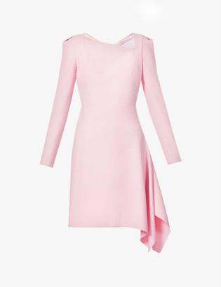 Roland Mouret Charwell asymmetric-hem stretch-crepe mini dress