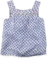 Carter's Embroidered Blue Print Tank Top - Preschool Girls 4-7