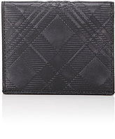 Thom Browne Men's Plaid-Embossed Folding Card Case-BLACK