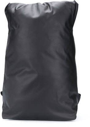 Bottega Veneta Roll-Top Leather Backpack