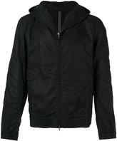 Attachment elasticated cuffs hooded jacket - men - Cotton/Linen/Flax/Tencel - III