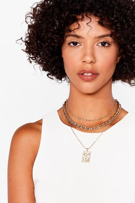 Nasty Gal Womens Hiss is Me Layered Snake Necklace - Gold