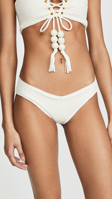 Montce Swim Raw Edge Nu Micro Bikini Bottoms
