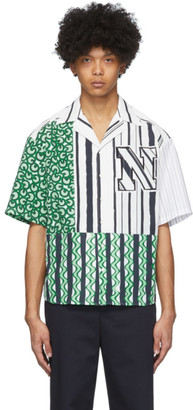 Neil Barrett Green Logo Short Sleeve Shirt