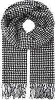 Sandro Houndstooth Printed Wool Scarf