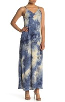 WEST KEI Woven V-Neck Tie Dye Maxi Dress (Petite)