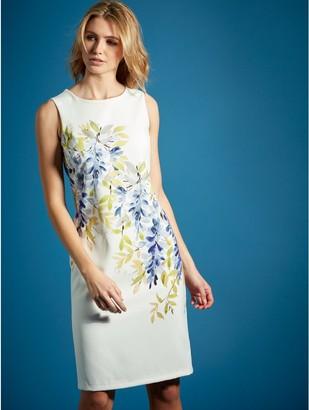 M&Co Leaf placement print shift dress