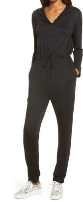 Fraiche by J Long Sleeve Hooded Jumpsuit
