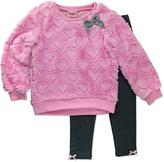 Nannette Girls' 2-Piece Faux-Fur Legging Set