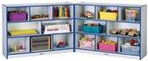 Jonti-Craft Rainbow Accents Preschool Kids Super-Sized Fold-n-Lock Storage Cabinet