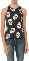 Chaser Skull Cotton Crew Neck Tank